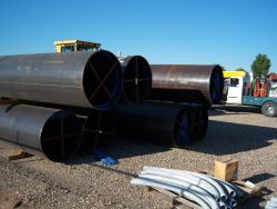 36 inch pipe stockpile